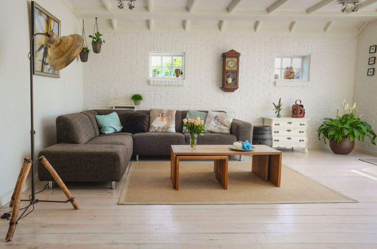 Huiskamer met hoekbank